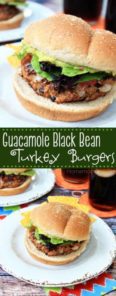 Guacamole Black Bean how to make turkey burgers