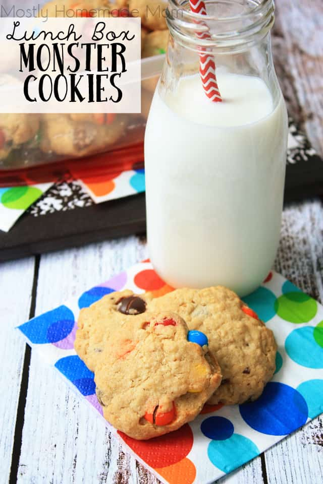 Lunch Box Monster Cookies