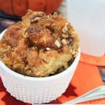 Pumpkin Croissant Bread Pudding