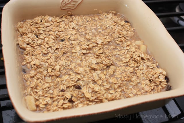 Raisin Apple Amish Baked Oatmeal recipe