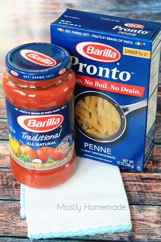 Skillet Chicken Cacciatore recipe with Barilla pronto penne pasta