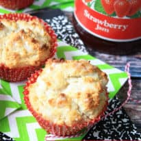 Sweet Strawberry Jam Muffins
