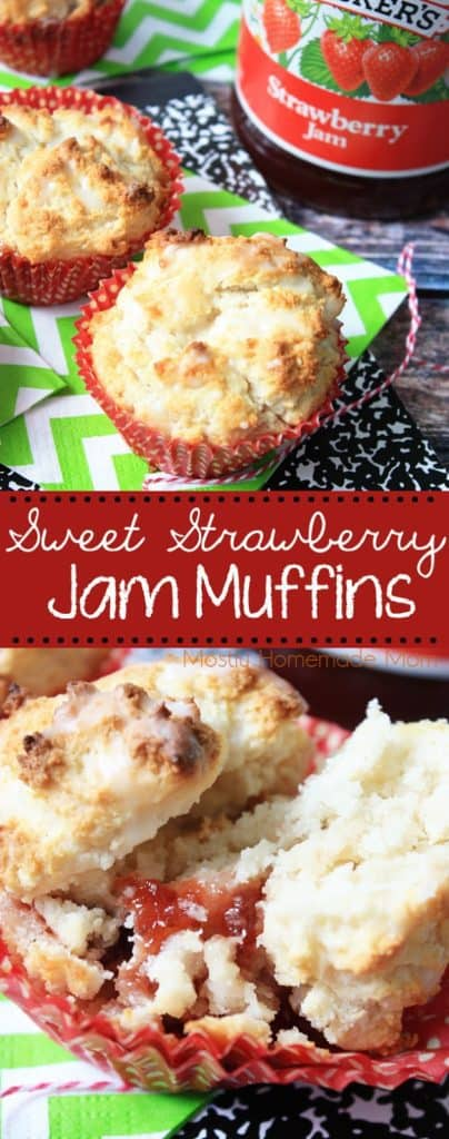 Sweet Strawberry Jelly Muffins recipe