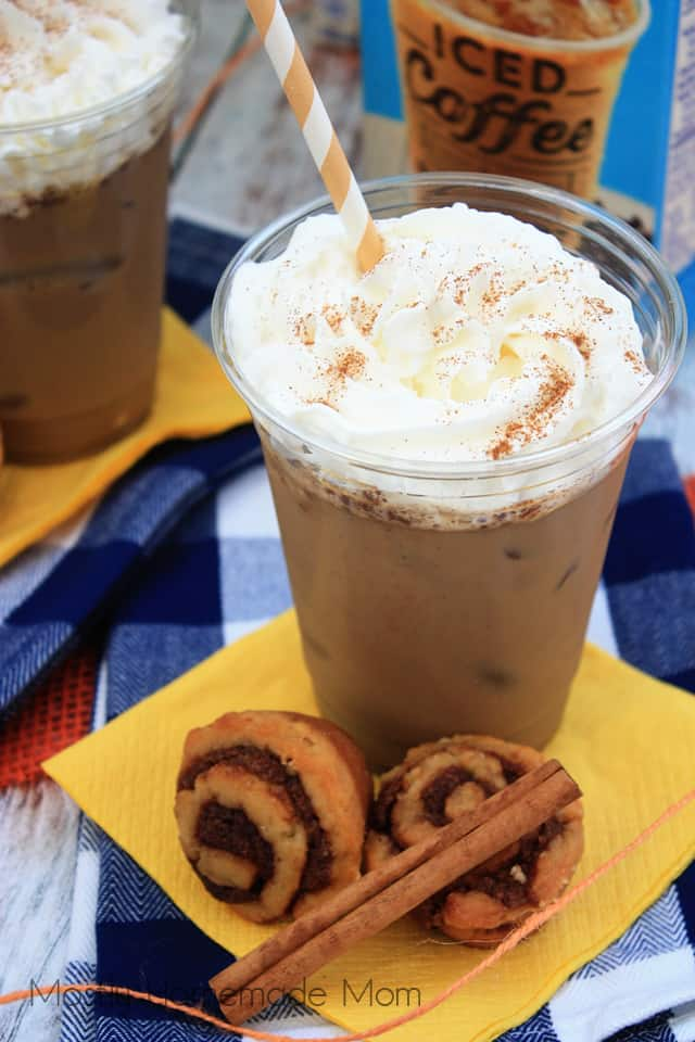 Cinnamon Roll Iced Cinnamon Coffee