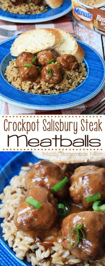 Crockpot Recipe for Salisbury Steak Meatballs