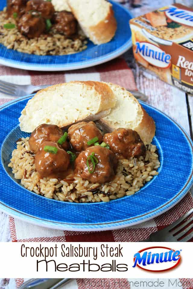 Crockpot Salisbury Steak Meatballs
