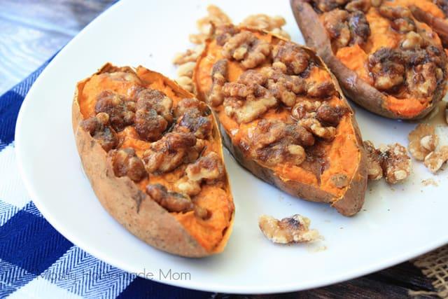 Maple Walnut Baked Sweet Potato Recipe