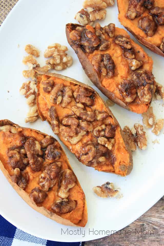 Maple Walnut Roasted Sweet Potato Recipes