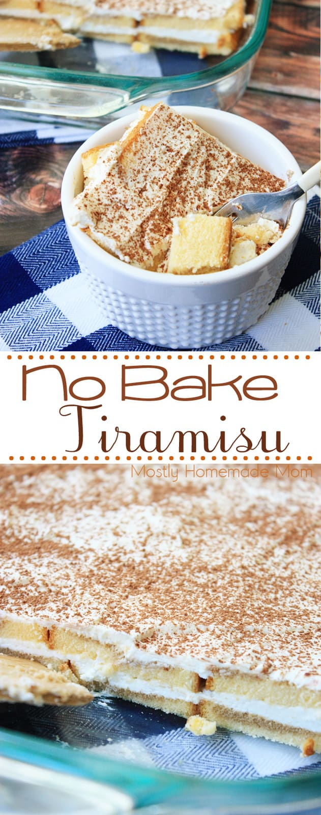 This Easy Tiramisu Recipe is ready in minutes! Pound cake slices drizzled with coffee and topped with a sweet cream cheese - a delicious no bake dessert! #nobakedessert #recipe #tiramisu #coffee