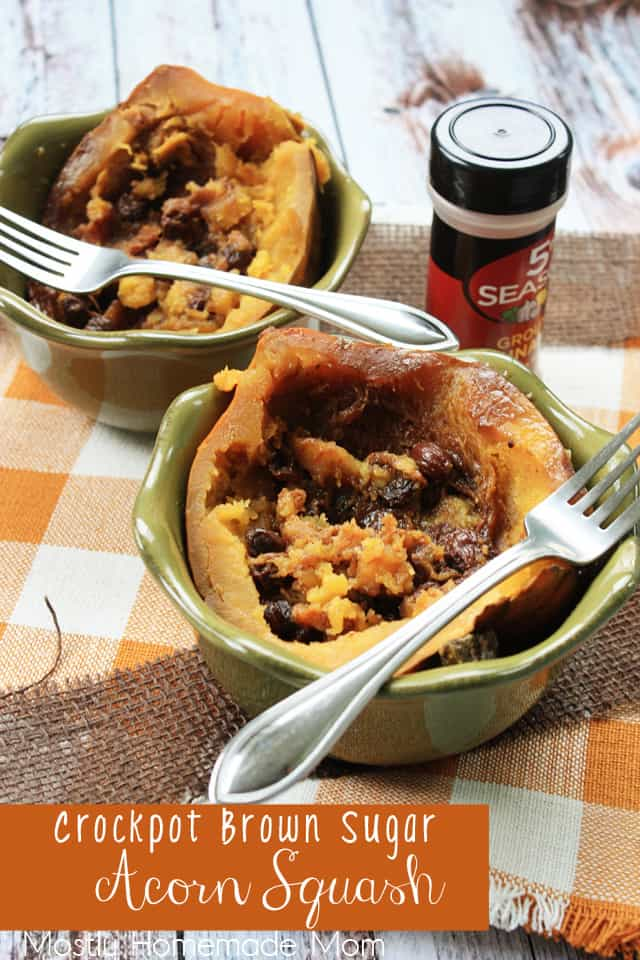 Crockpot Brown Sugar Acorn Squash