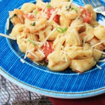 Shrimp Scampi Tortellini Skillet