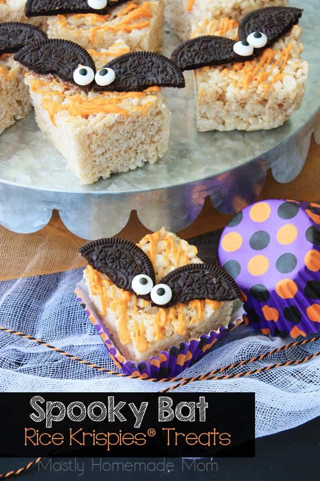 Spooky Bat Halloween Rice Krispies® Treats
