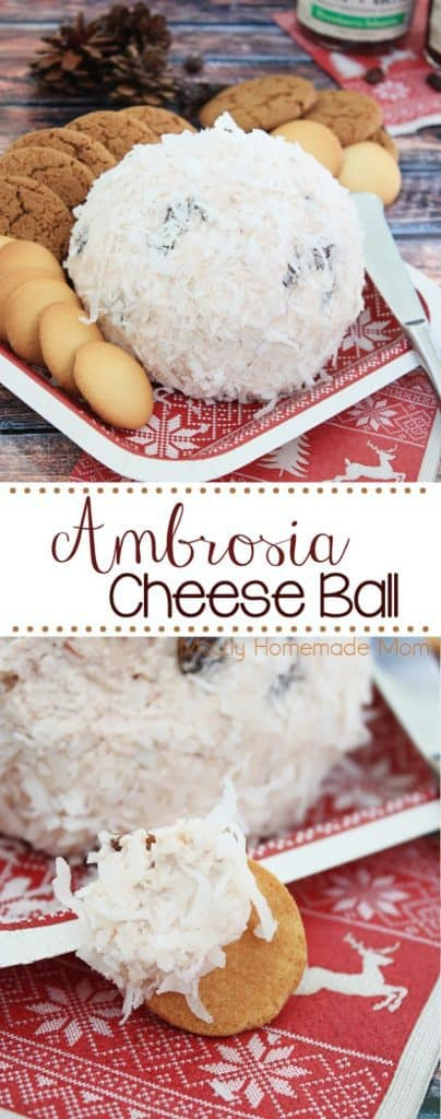 Ambrosia Cheese Ball Appetizer