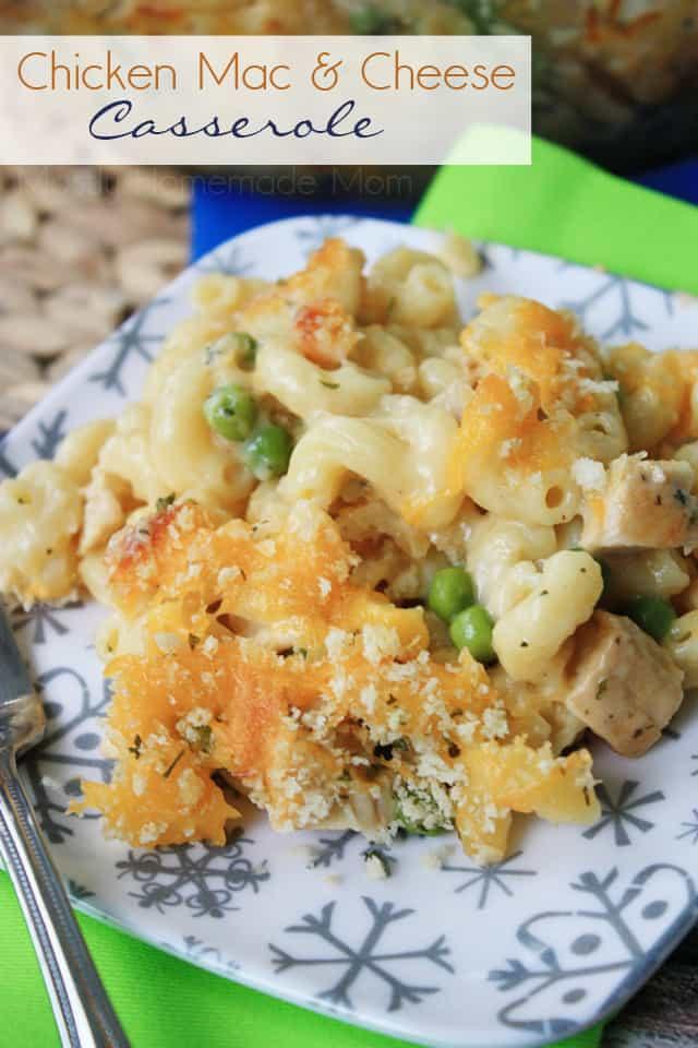 Chicken Mac & Cheese Casserole