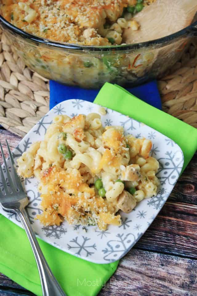 Chicken Macaroni & Cheese Casserole Recipe
