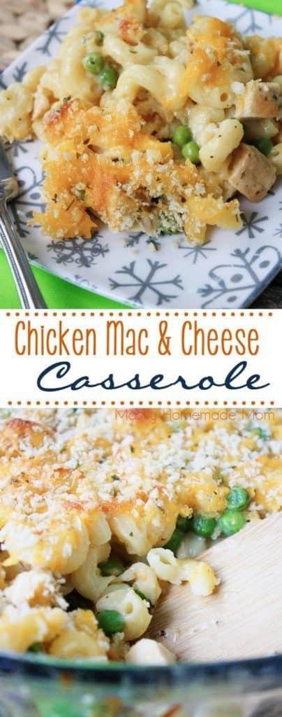 Chicken Macaroni and Cheese Casserole