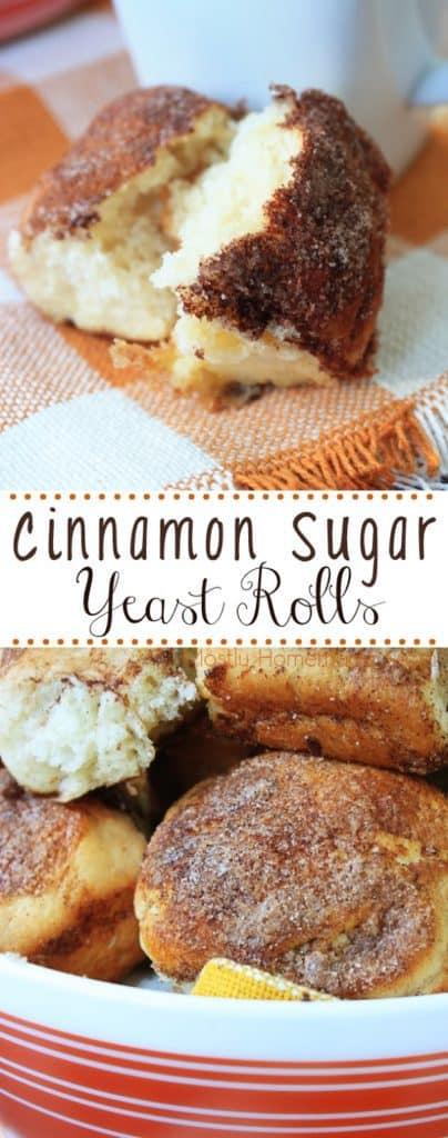 Cinnamon Sugar Yeast Dinner Rolls