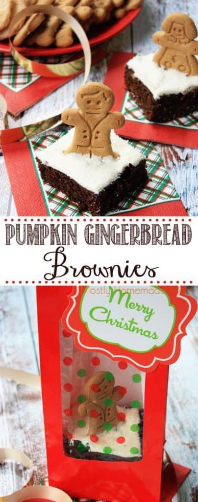 Pumpkin Gingerbread Brownie Recipe Gift