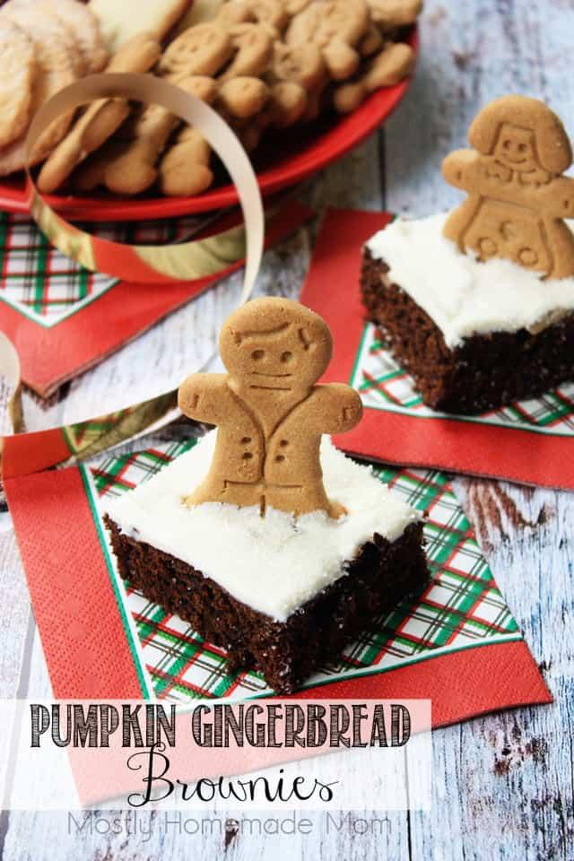 Pumpkin Gingerbread Brownies