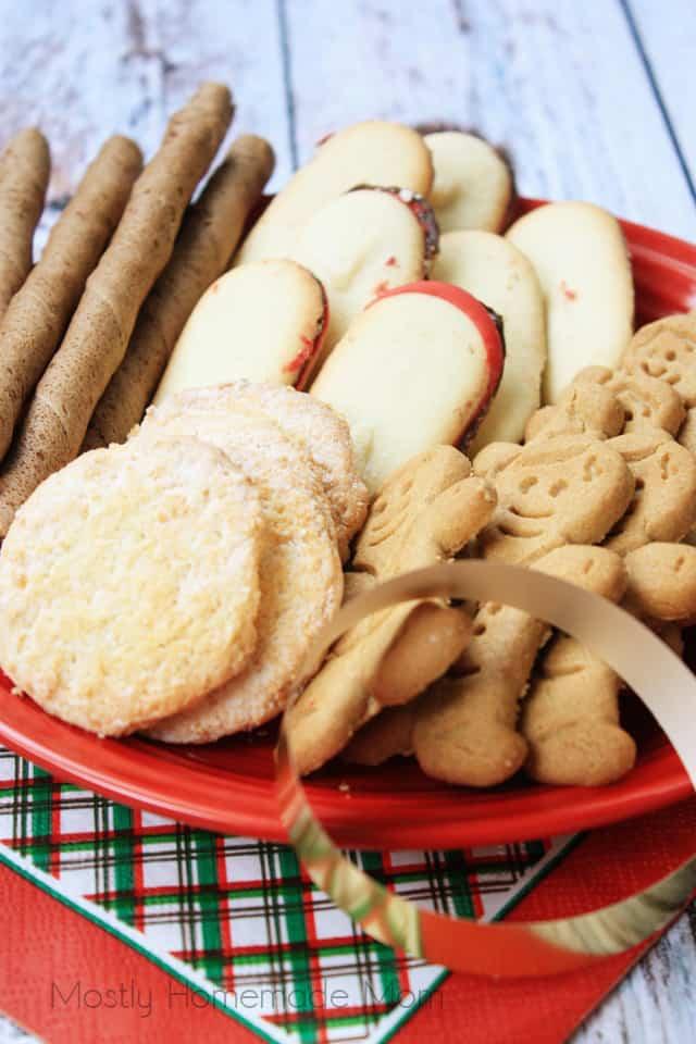 Pumpkin Gingerbread Brownies Christmas Cookie Tray