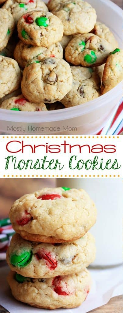 Christmas Recipe for Monster Cookies