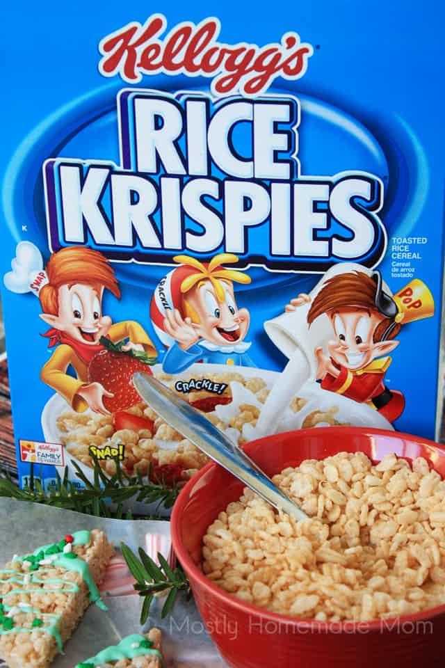 Christmas Tree Rice Krispie Treats Recipe