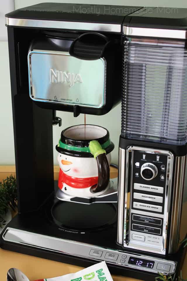 Skinny Peppermint Mocha with Ninja Coffee Bar