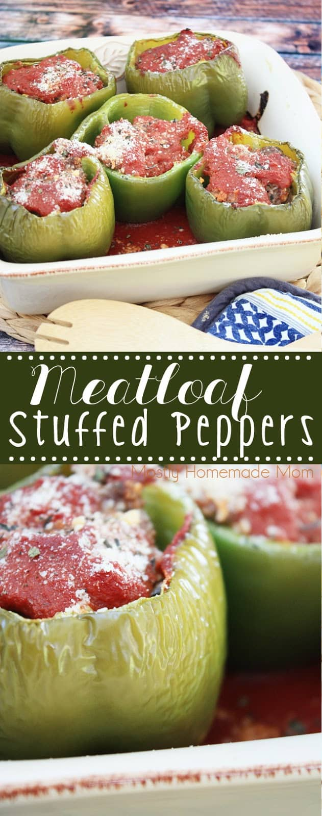 Meatloaf Stuffed Peppers are the perfect favorite dinner recipe mashup! If your family loves stuffed peppers and meatloaf, they'll go crazy for this dinner idea!