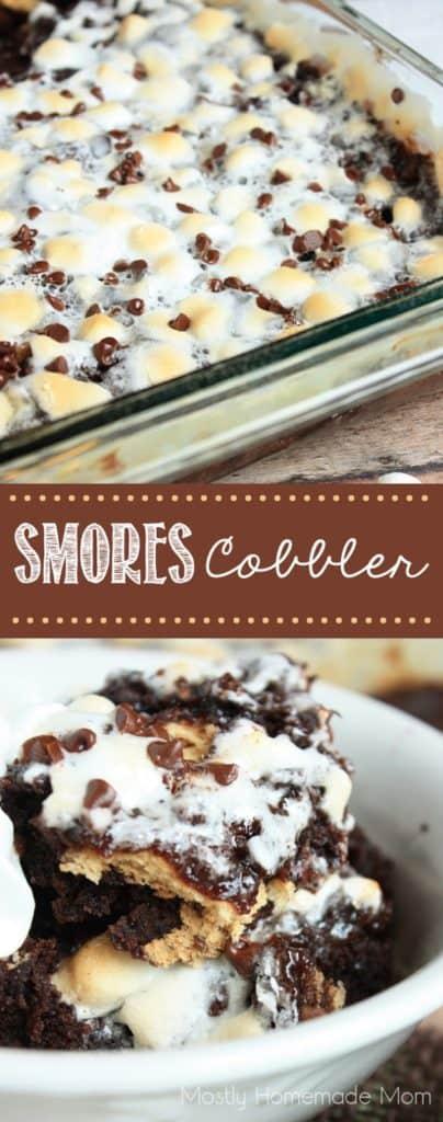 S mores cobbler dessert recipe