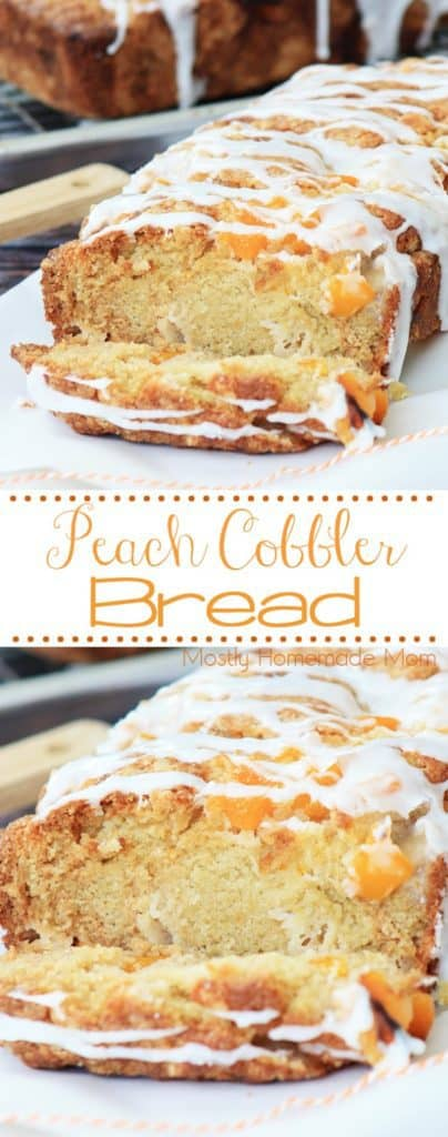 How to make peach cobbler bread