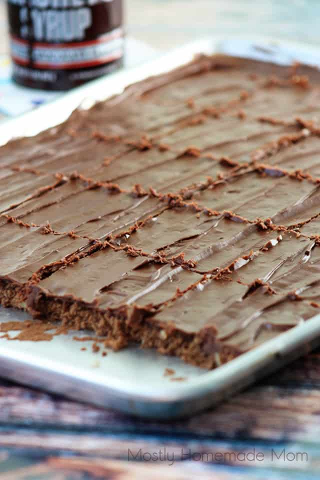 Sheet Pan Chocolate Syrup Brownies