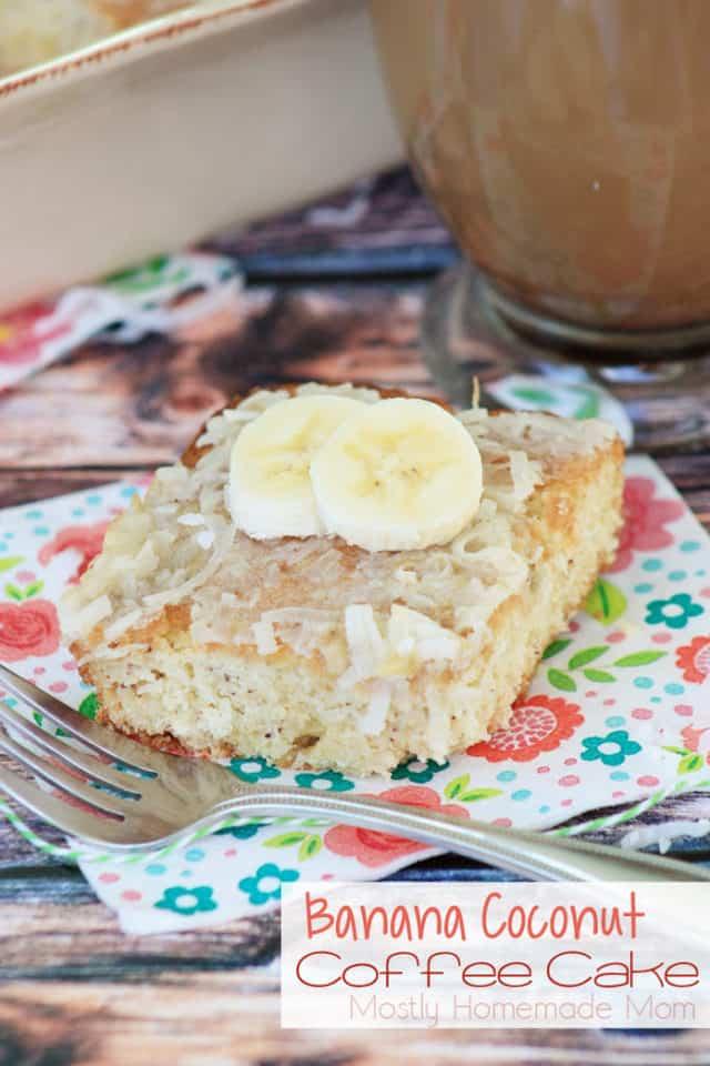 Banana Coconut Coffee Cake