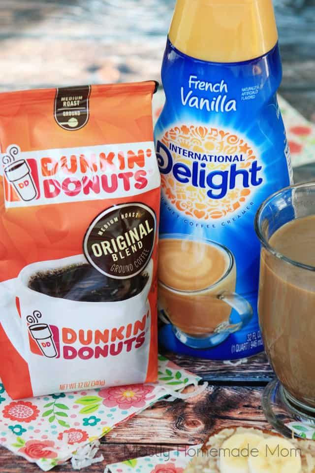 Banana Coconut Coffee Cake with Dunkin Donuts