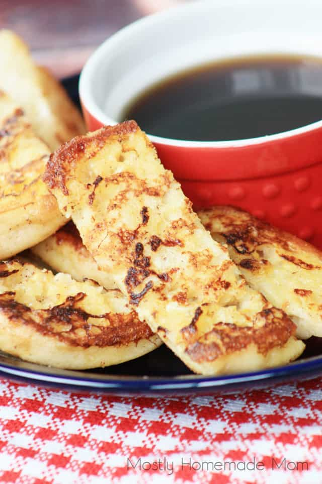 French Toast Sticks made with English Muffins
