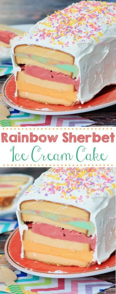 Sherbet Ice Cream Cake