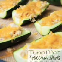 Tuna Melt Zucchini Skins