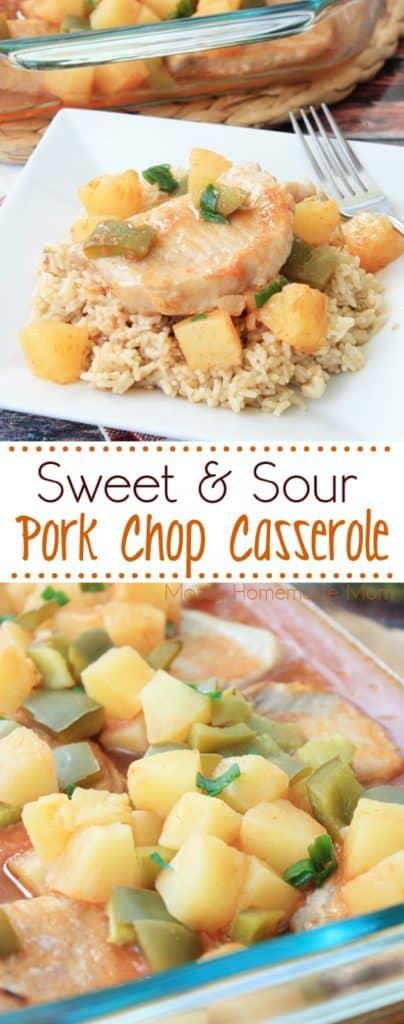 sweet and sour pork chop casserole