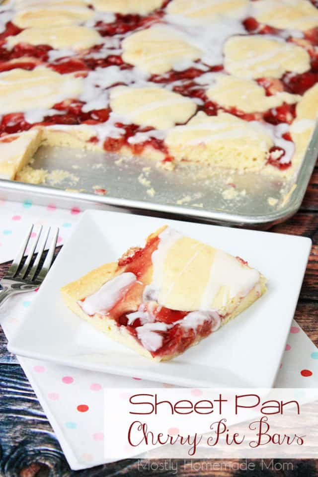 Sheet Pan Cherry Pie Bars