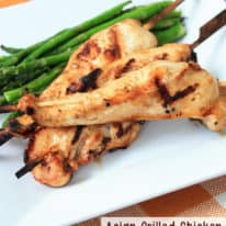 Asian Grilled Chicken Skewers