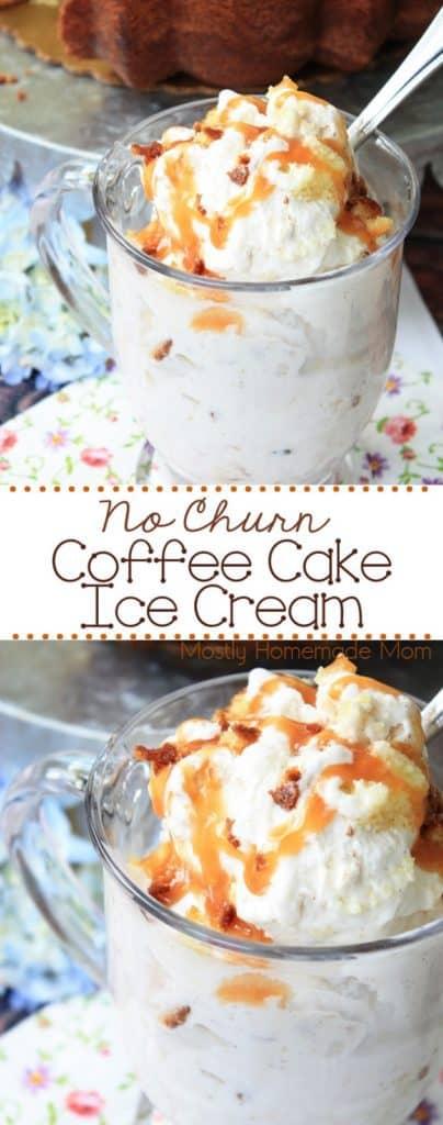No Churn Coffee Cake Ice Cream recipe
