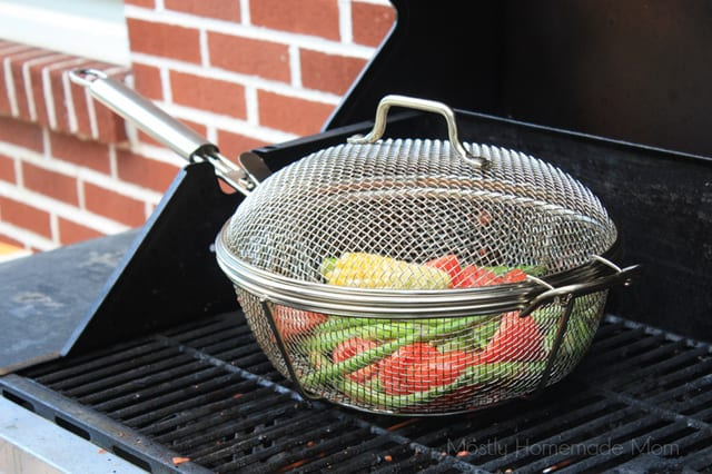 grilled vegetable salad basket