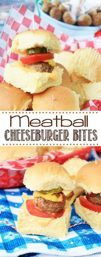 mini cheeseburger bites