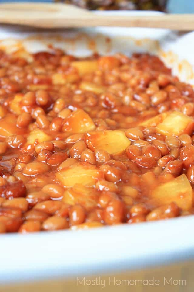recipe for baked beans with pineapple