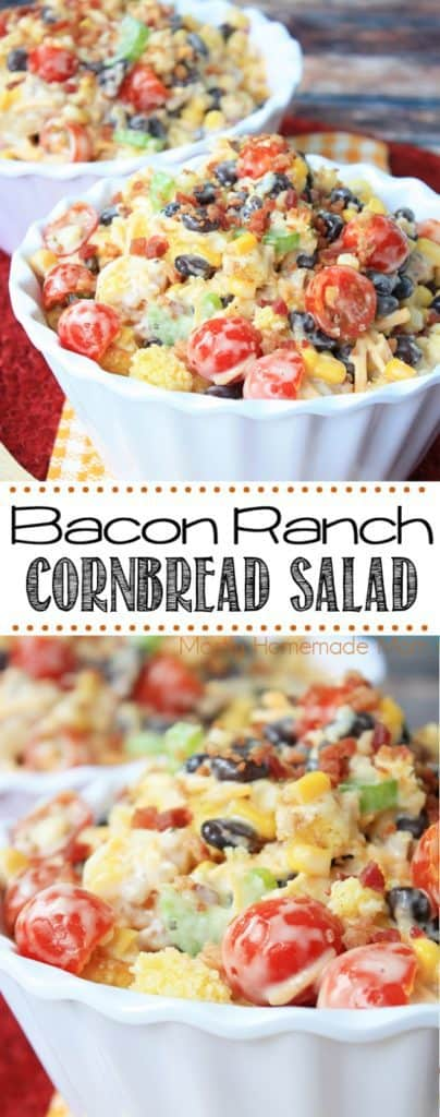Bacon Ranch Cornbread Salad recipe
