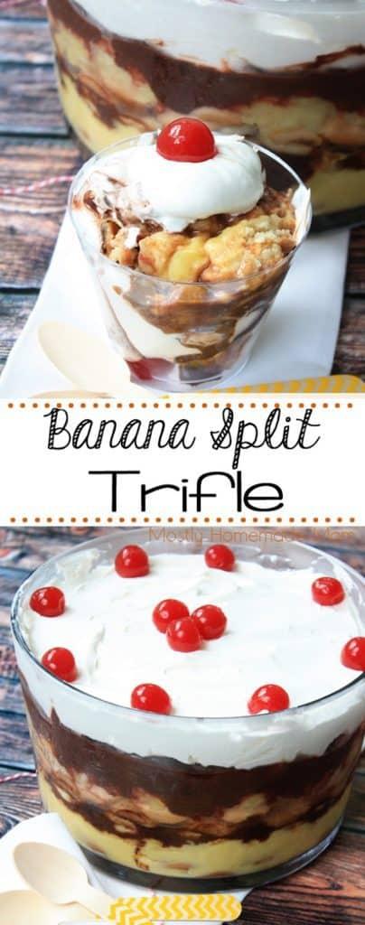 banana split dessert trifle recipe