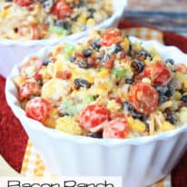 Bacon Ranch Cornbread Salad