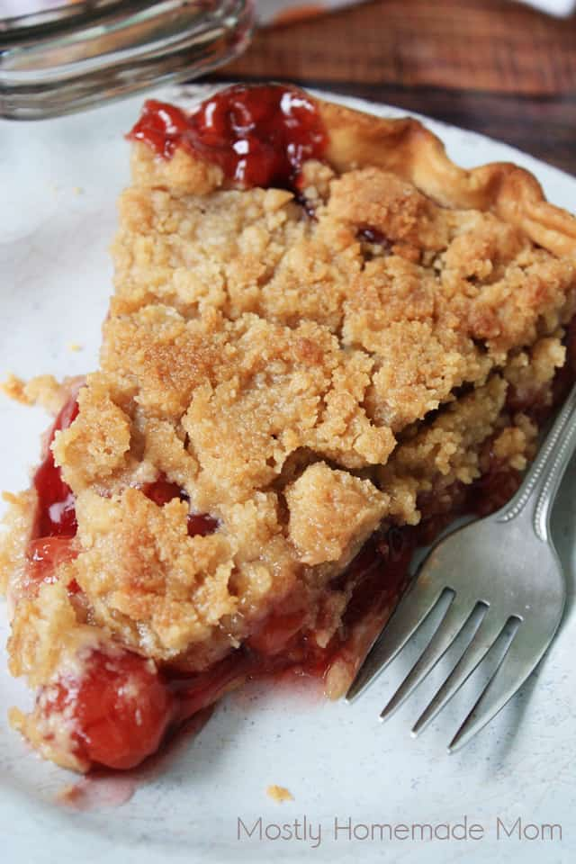 Cherry Pie with Almond Crumb Topping - Cherry Streusel Pie ... |Cherry Pie With Crumb Topping