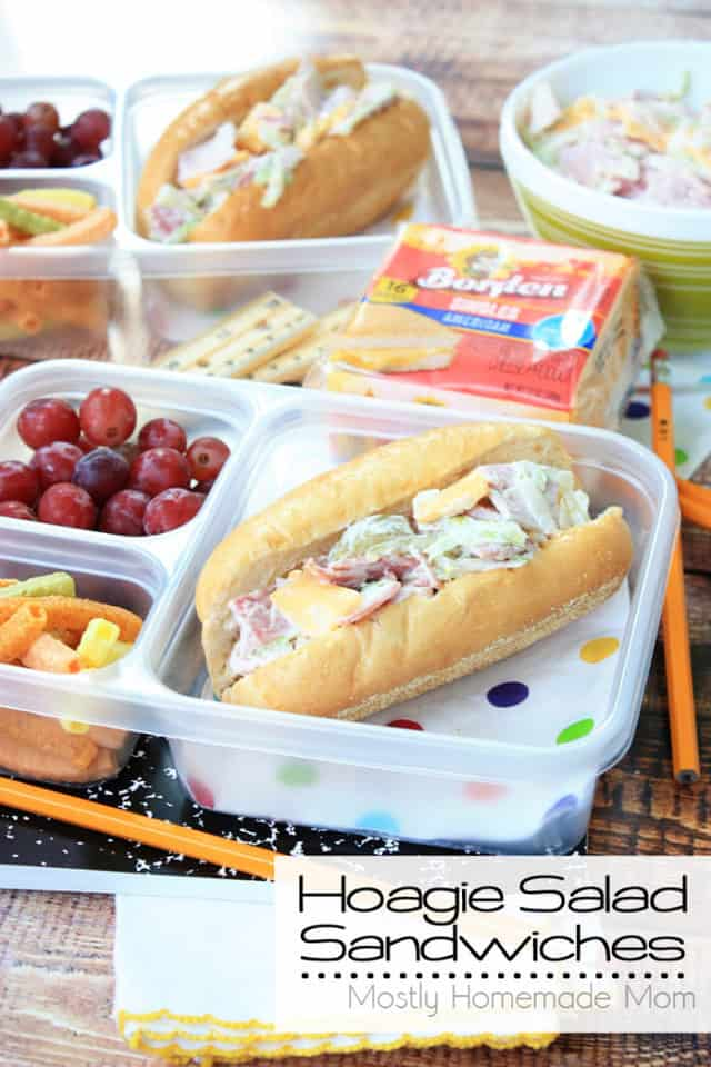 Hoagie Salad Sandwiches