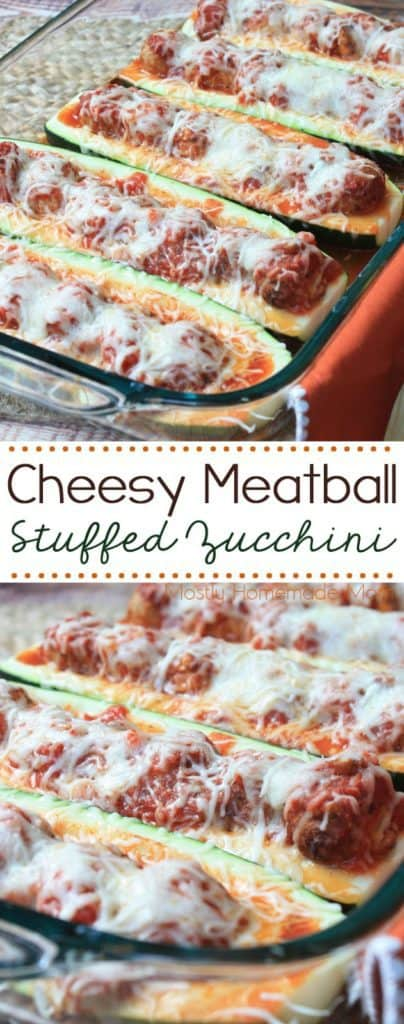 cheesy meatball stuffed zucchini recipe