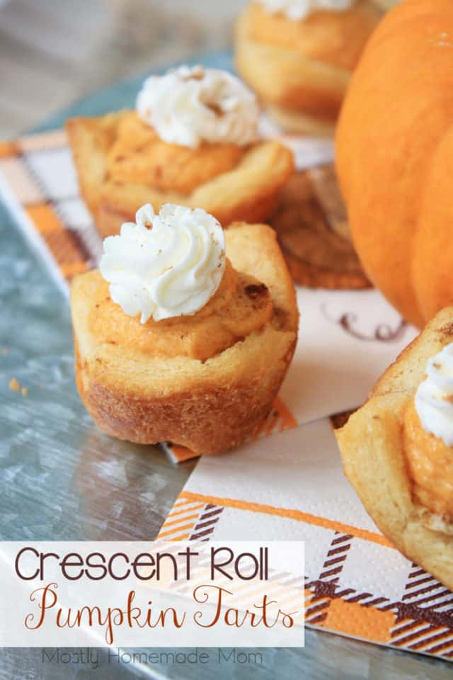 Crescent Roll Pumpkin Tarts